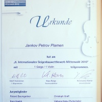 Diploma of competition